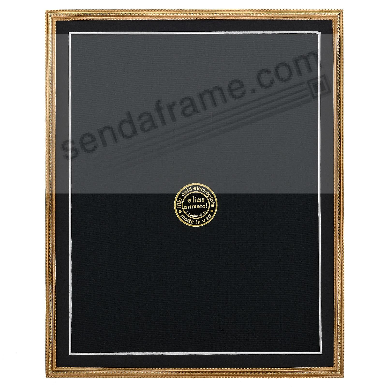 CAPSTONE 18kt Gold Over Fine Pewter 8x10/7x9 frame by Elias Artmetal®