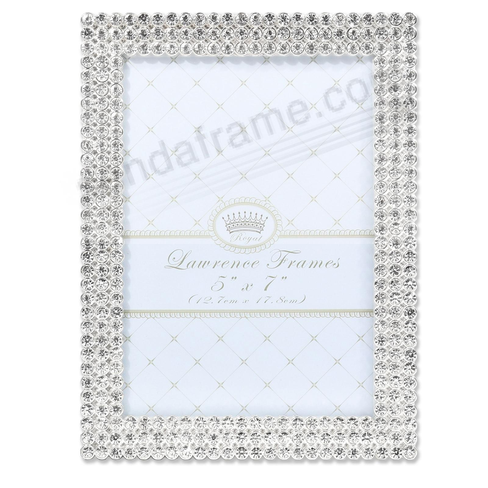 JULIET WHITE CRYSTAL JEWELS + SILVER 4x6 frame