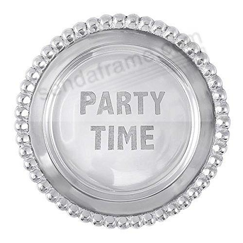 PARTY TIME BEADED WINE PLATE by Mariposa®