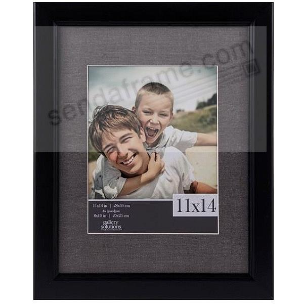 BLACK/Grey Textured Mat 11x14/8x10 frame by Gallery Solutions™