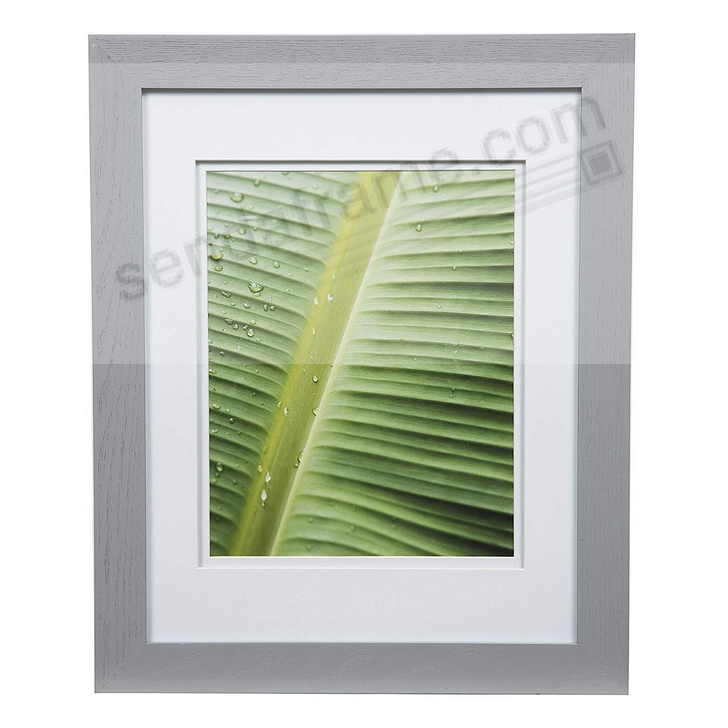 BRUSHED SILVER 11x14/8x10 double matted frame by Gallery Solutions™