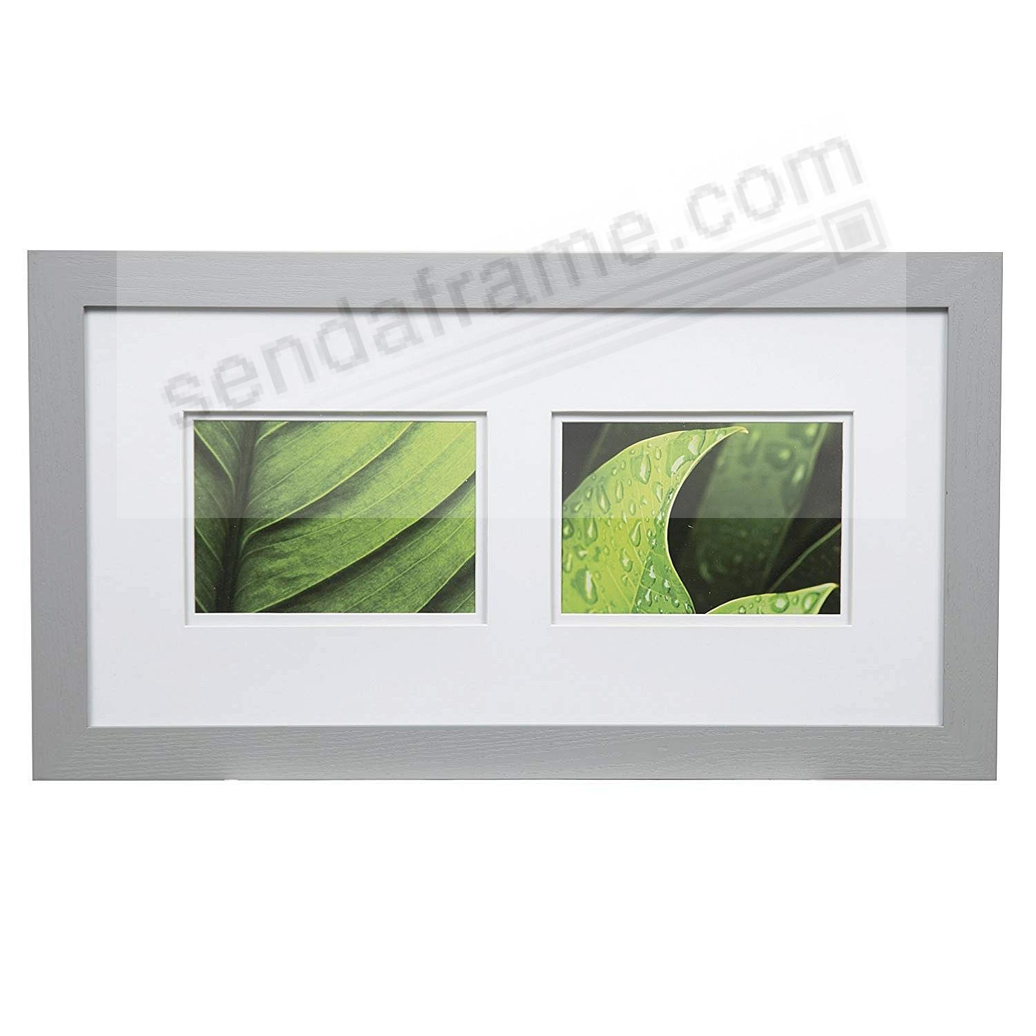 BRUSHED SILVER 20x10/5x7 double matted frame by Gallery Solutions™