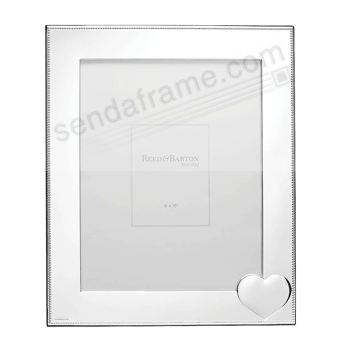 PRECIOUS HEART Silverplate 8x10 frame by Reed & Barton®