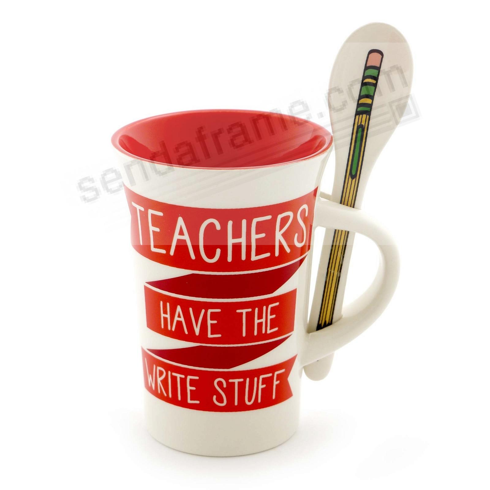 TEACHER MUG WITH SPOON by Our Name is Mud®