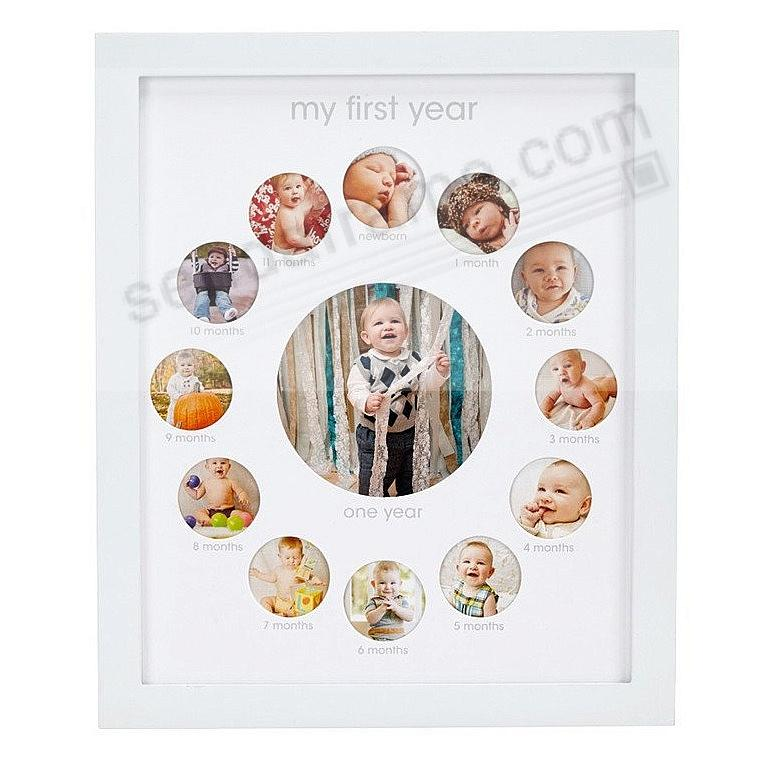 BABYS FIRST YEAR White Keepsake Collage by Pearhead®