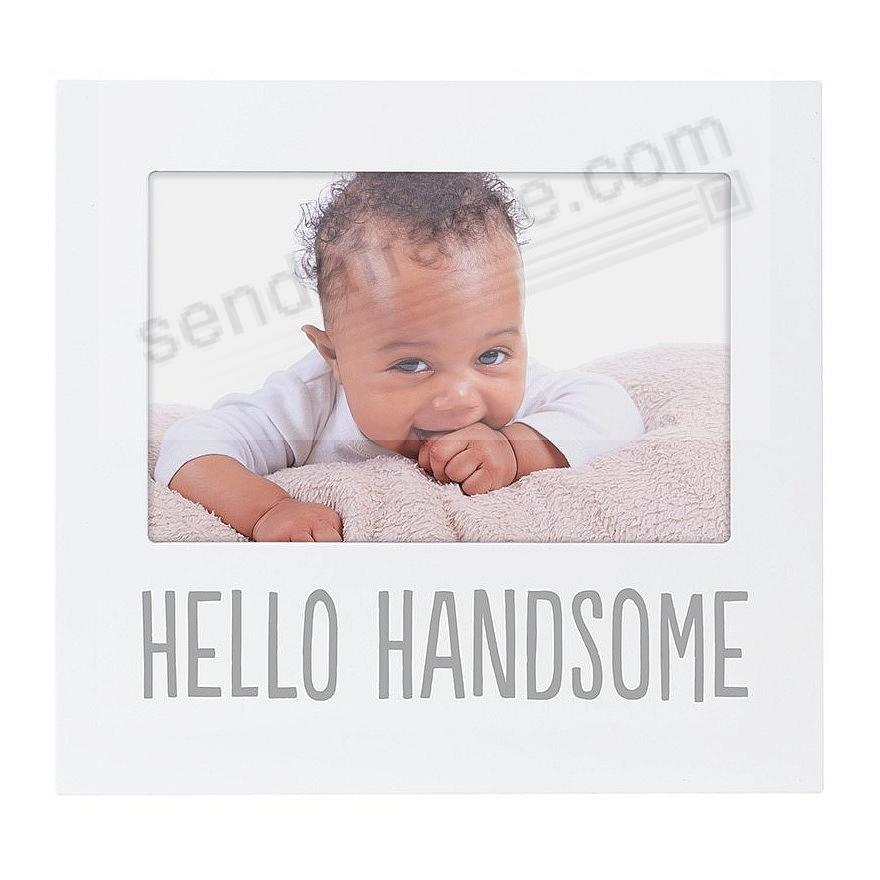HELLO HANDSOME White keepsake frame by Pearhead®