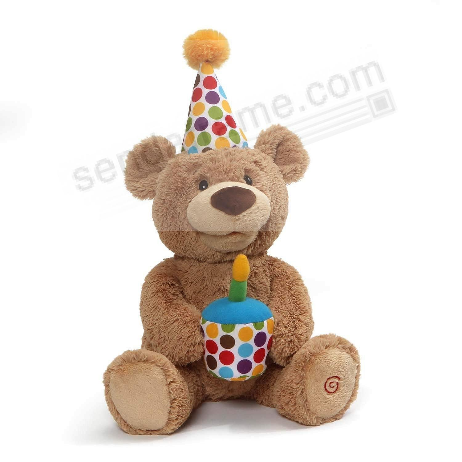 HAPPY BIRTHDAY ANIMATED TEDDY Plush Bear toy by Gund®