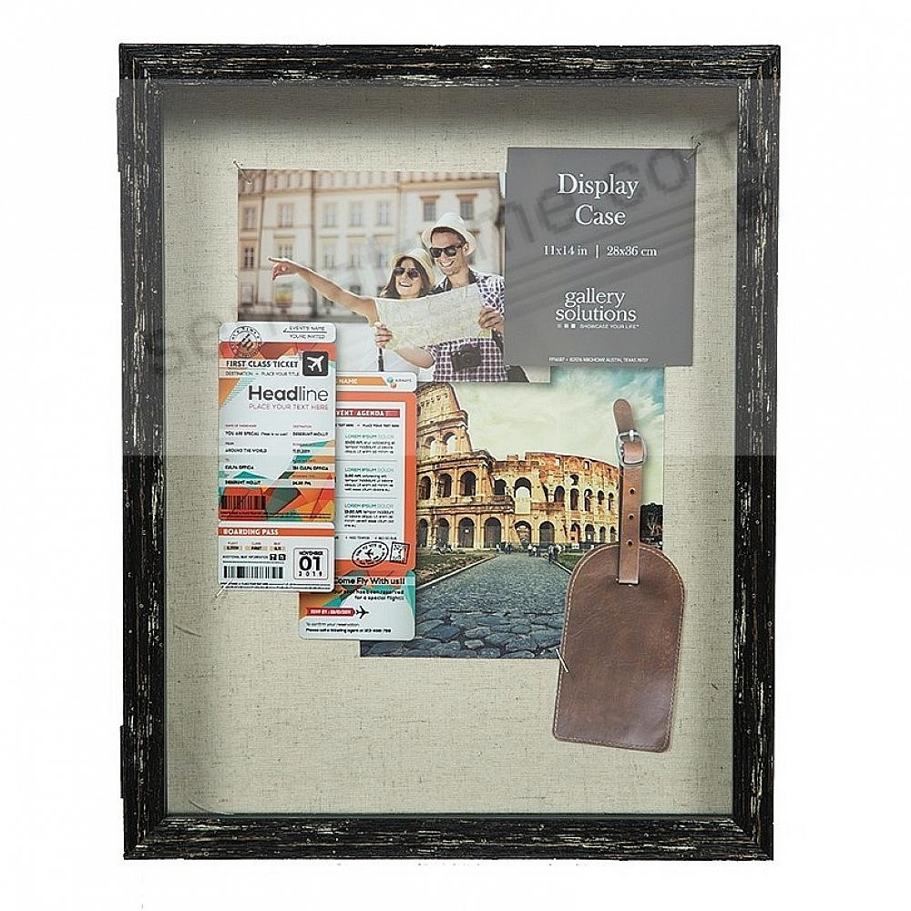 Black Hinged Door 11x14 ShadowBox by Gallery Solutions®