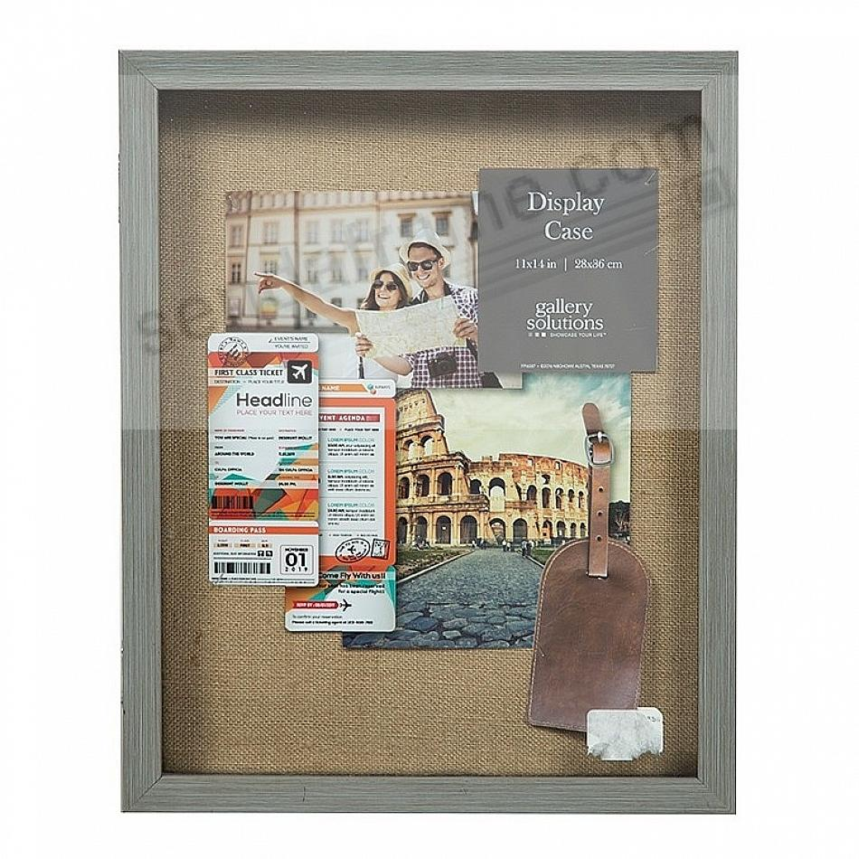 Grey Hinged Door 11x14 ShadowBox by Gallery Solutions®