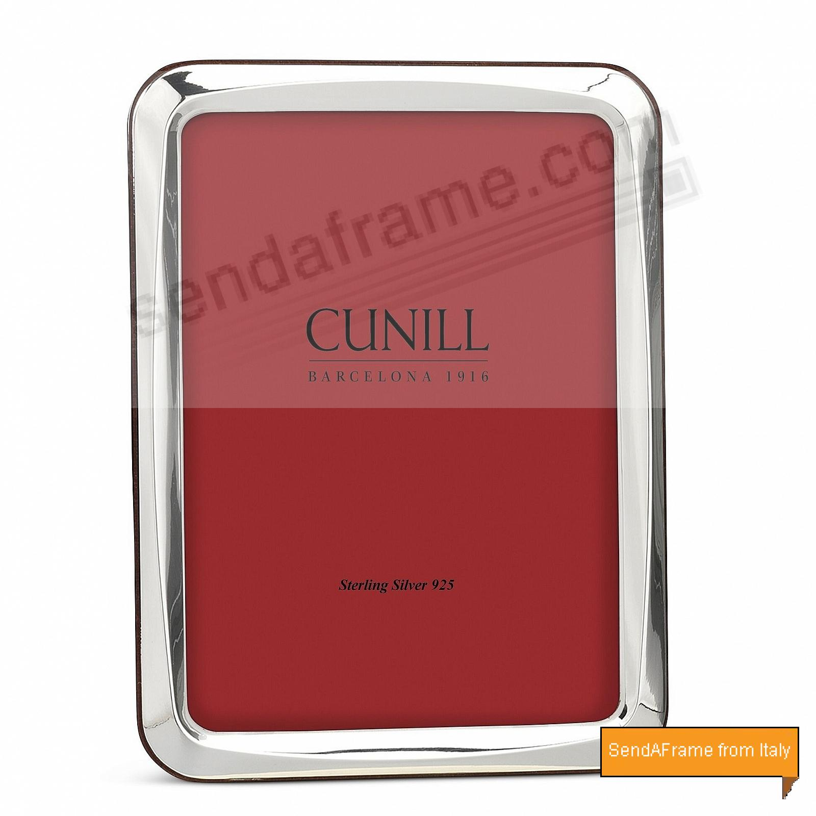 ROUND CORNER NOVA Fine Sterling Silver 8x10/7x9 Frame by Cunill® Italy