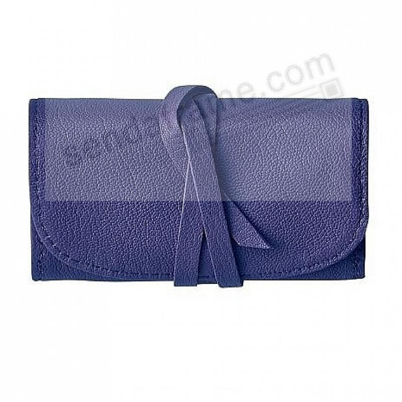 BRIGHTS INDIGO-BLUE Fine Leather Jewel Roll by Graphic Image™