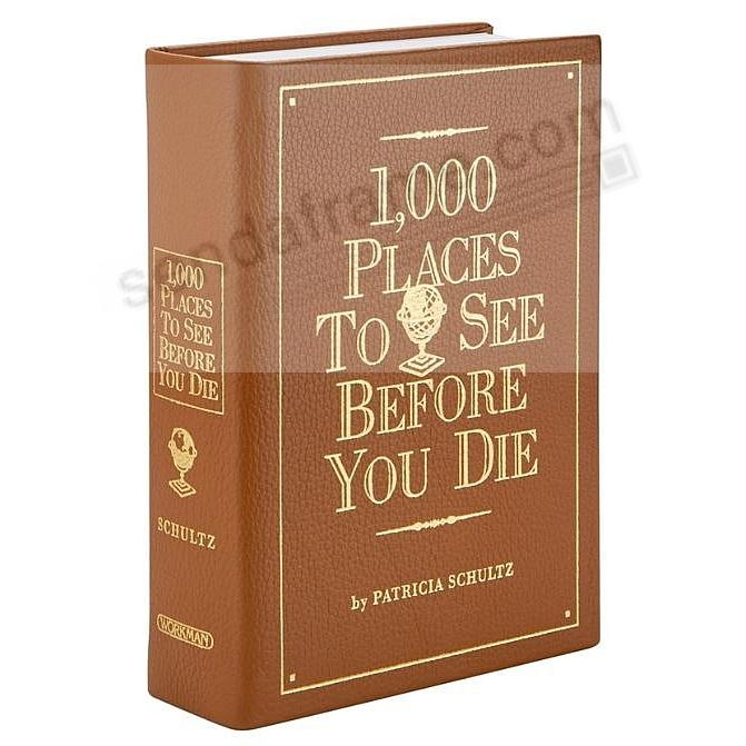 1000 PLACES TO SEE<br>BEFORE YOU DIE<br>by Patricia Schultz - Tan Leather