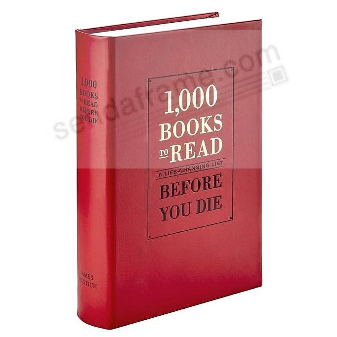 1000 BOOKS TO READ BEFORE YOU DIE in Fine Red Leather