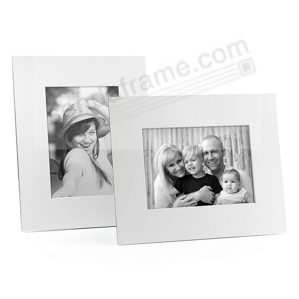 WHITE/White Core Mat Board 4x6 Frame with Bevel Cut Window and Easel Back (sold in 6s)