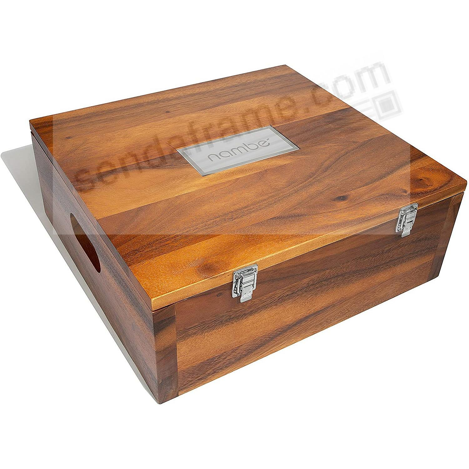 Miniature NATIVITY STORAGE BOX crafted by Nambe®