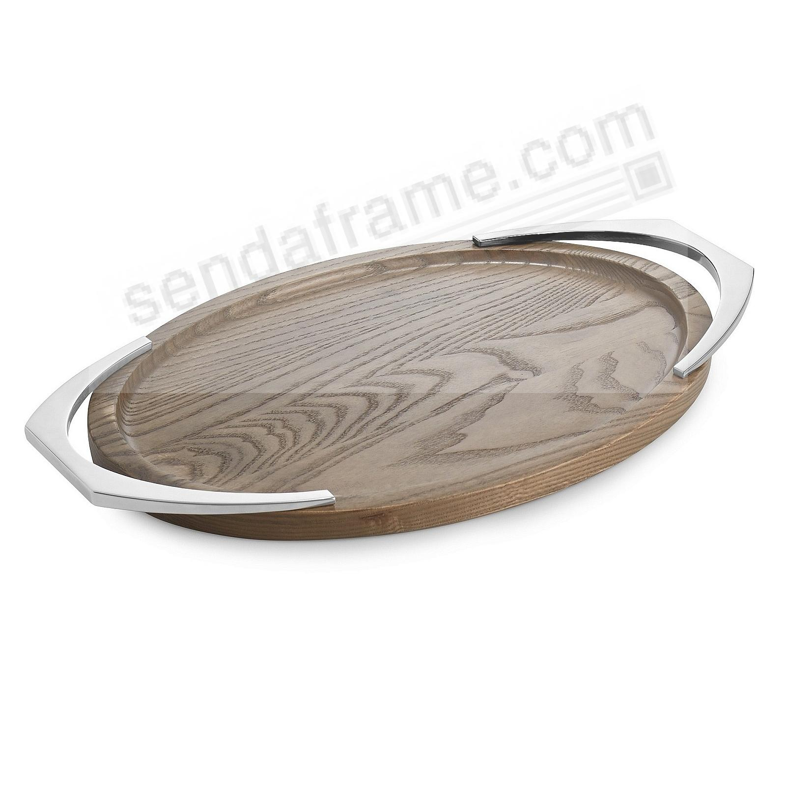 The CABO OVAL HANDLED TRAY by Nambe®