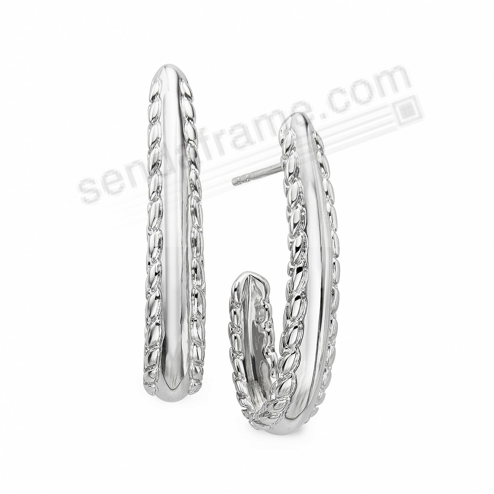 The BRAID DROP EARRINGS in Fine .925 STERLING SILVER by Nambe®