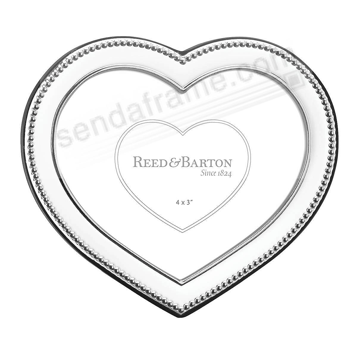 PRECIOUS HEART Silverplate 4x3 frame by Reed & Barton®