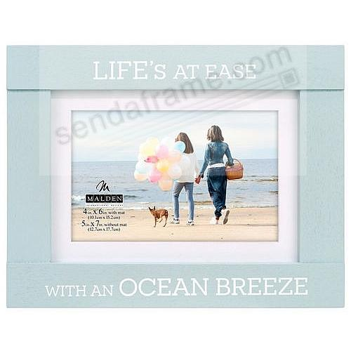 LIFE'S AT EASE WITH AN OCEAN BREEZE 7x5/6x4 Frame by Malden®