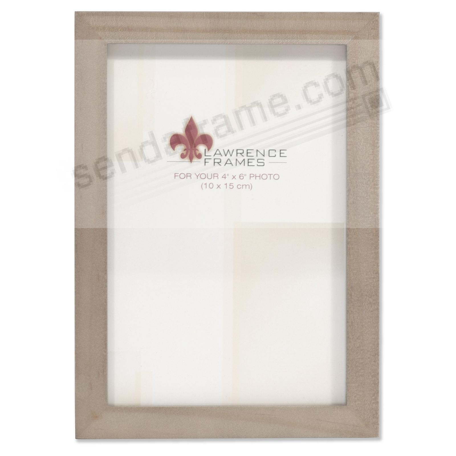 SQUARE CORNER Gray Stain 4x6 frame by Lawrence Frames®