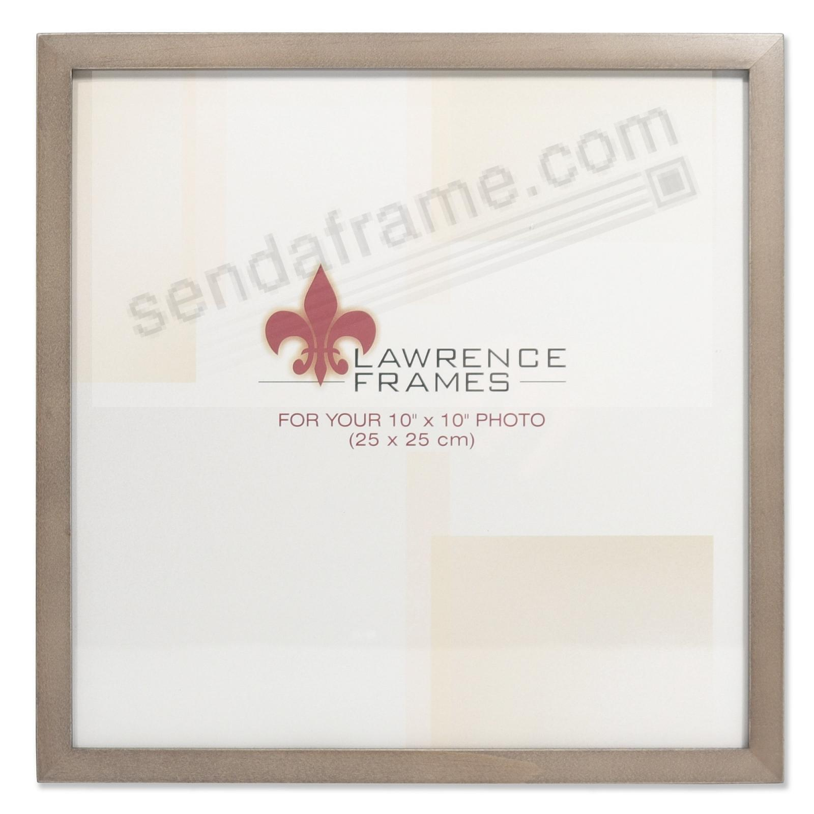 SQUARE CORNER Gray Stain 10x10 frame by Lawrence Frames®
