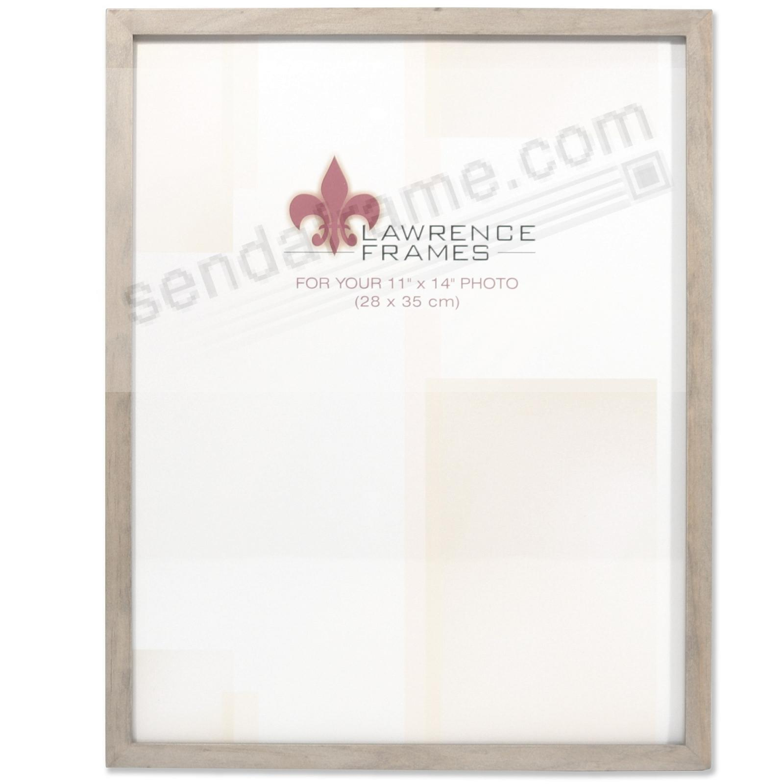 SQUARE CORNER Gray Stain classic 11x14 frame by Lawrence Frames®