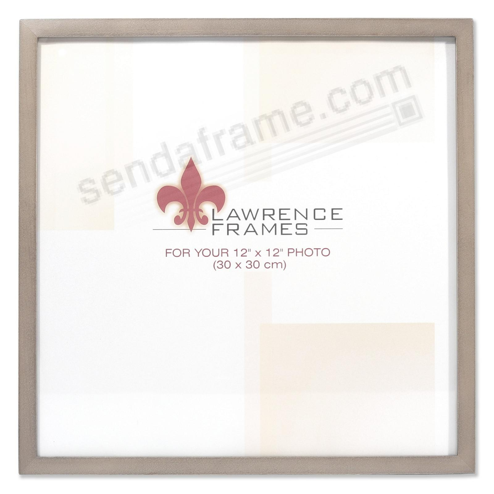 SQUARE CORNER Gray Stain 12x12 frame by Lawrence Frames®