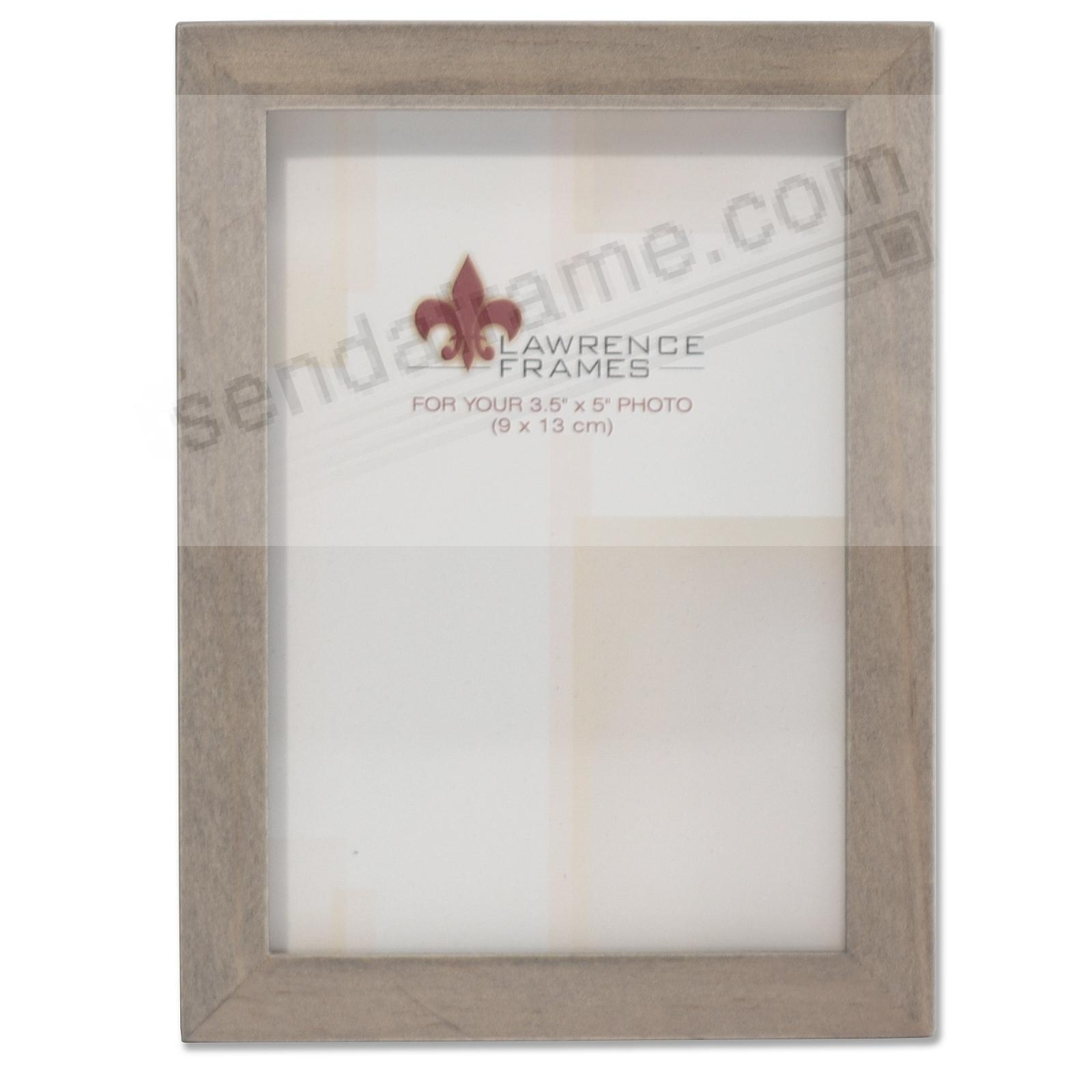 SQUARE CORNER Gray Stain 3½x5 frame by Lawrence Frames®