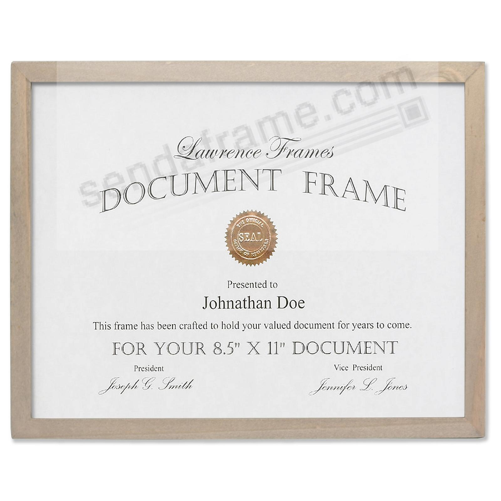 SQUARE CORNER Gray Stain 8½x11 frame by Lawrence Frames®