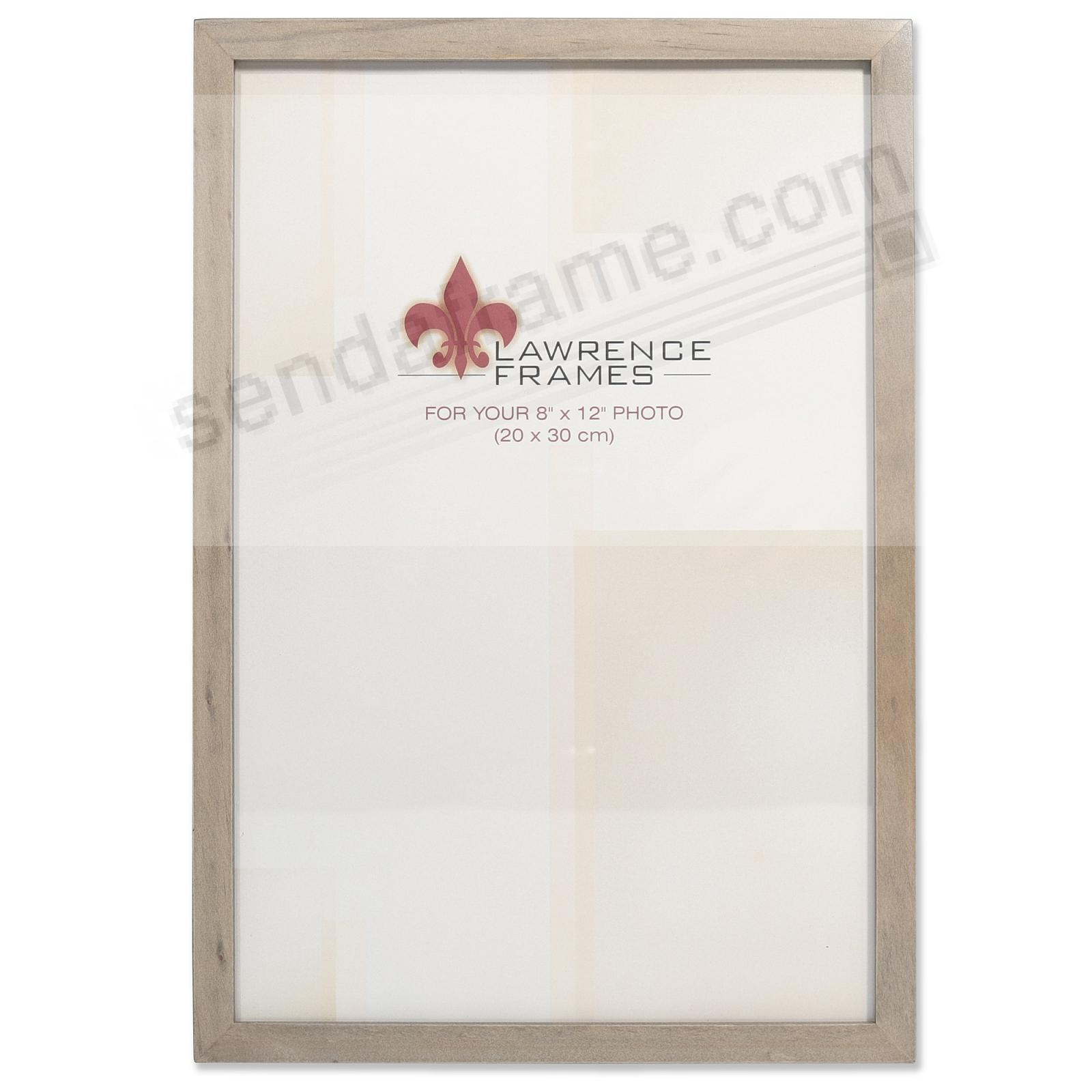 SQUARE CORNER Gray Stain 8x12 frame by Lawrence Frames®