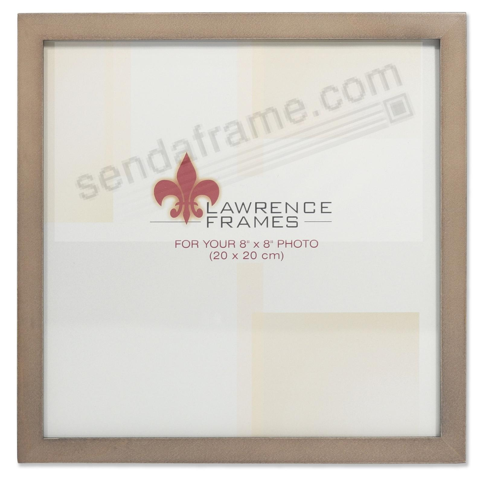 SQUARE CORNER Gray Stain 8x8 frame by Lawrence Frames®