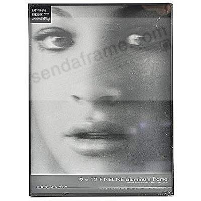 FINELINE Satin Black Aluminum 9x12 by Framatic®