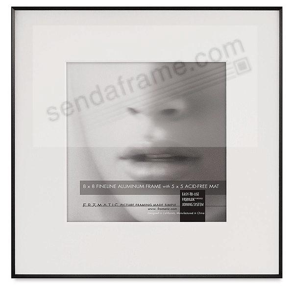 FINELINE Black Aluminum 8x8/5x5 Matted by Framatic®