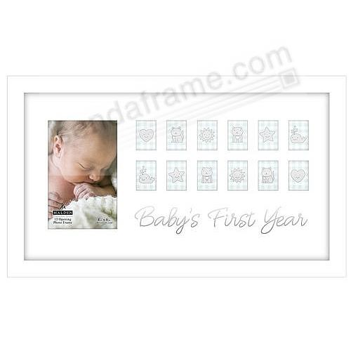 BABYS FIRST YEAR Collage Frame 13-opening White by Malden®