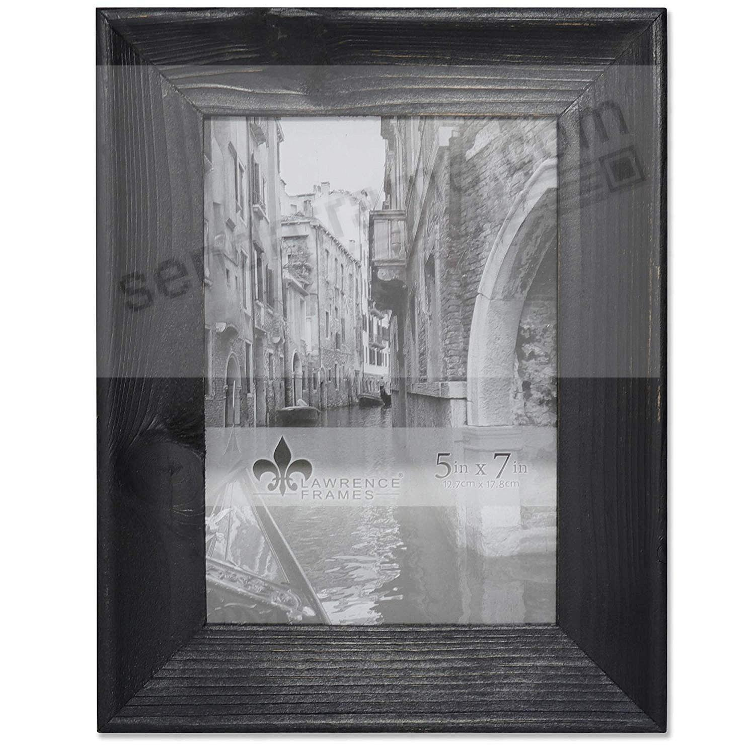 Weathered WHITNEY Black 5x7 Frame by Lawrence®