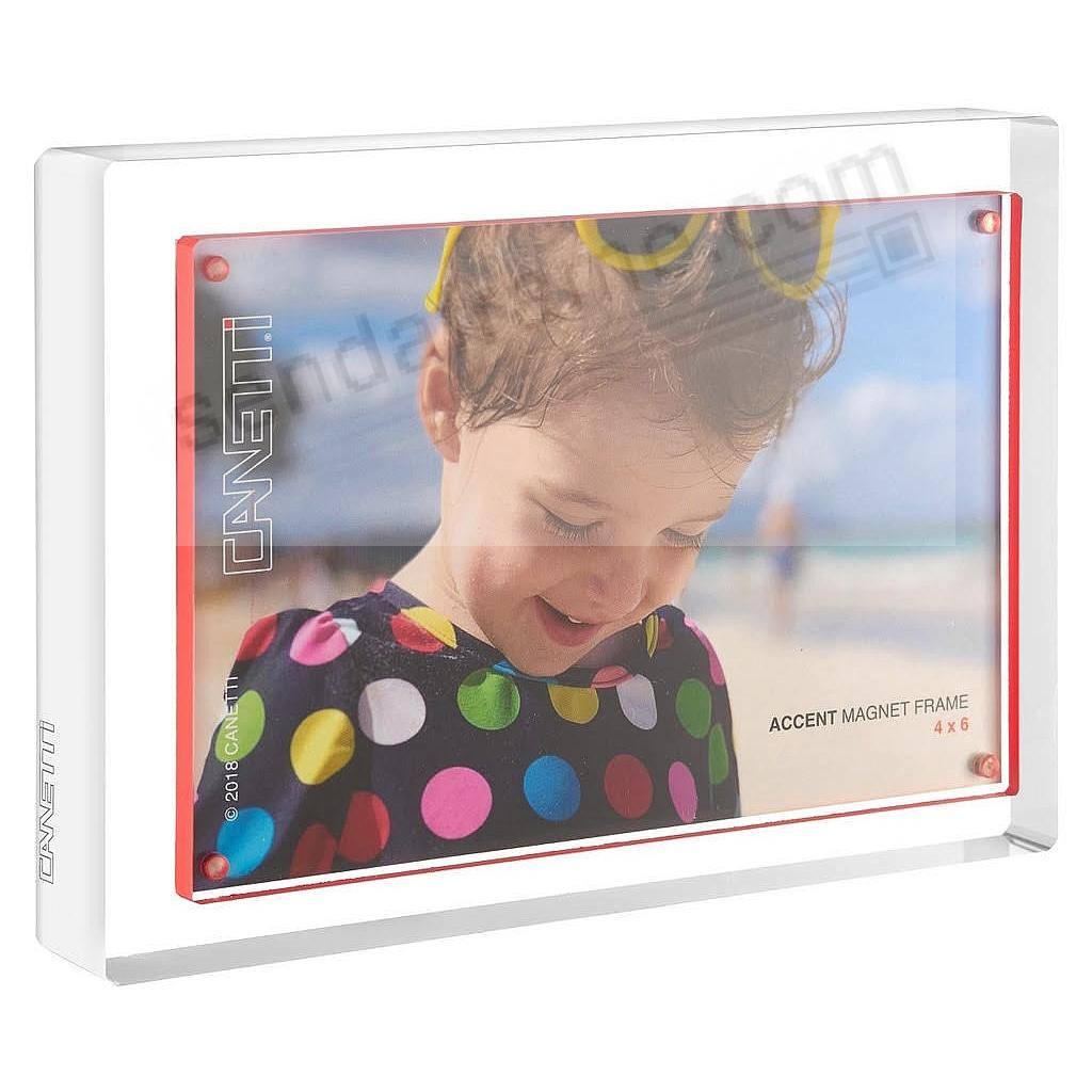 The MAGNET FRAME with red accent 4x6 by Canetti®