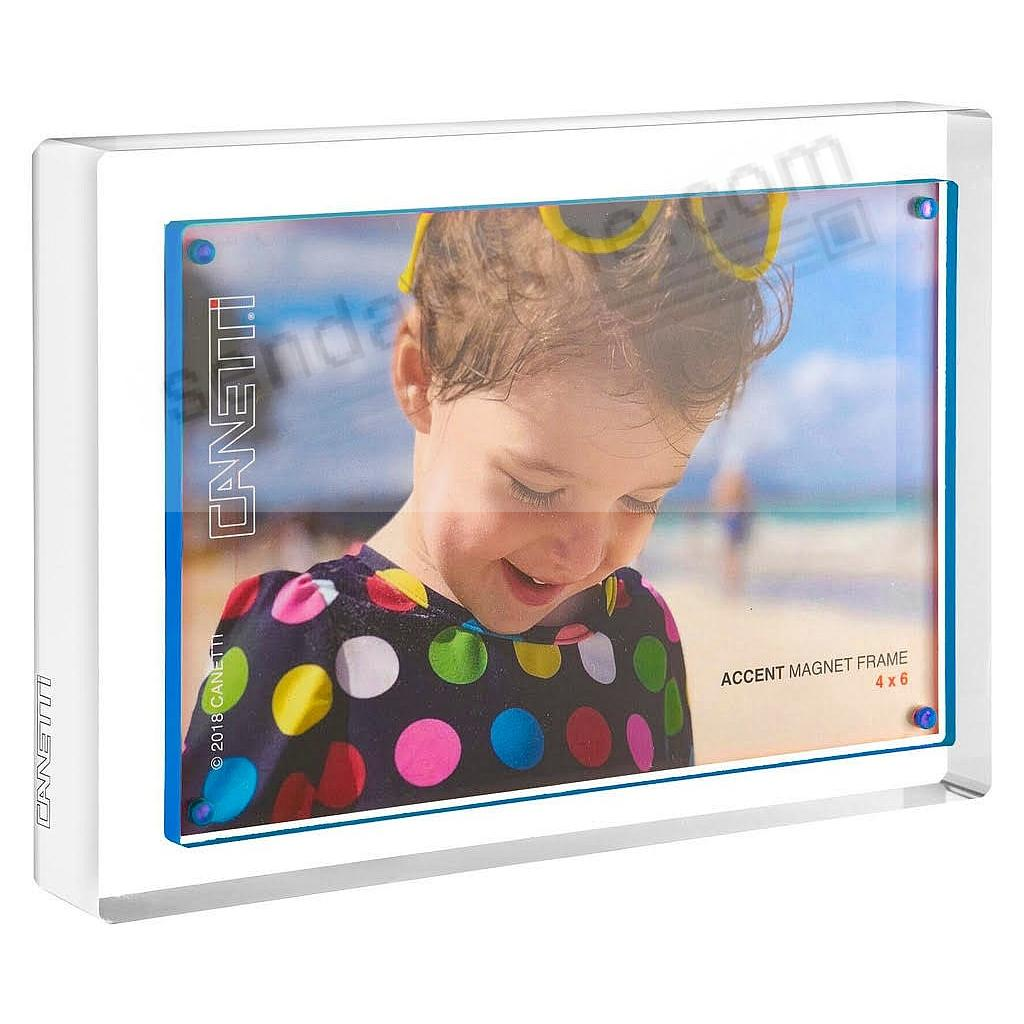 The MAGNET FRAME with Inner Blue Accent by Canetti®