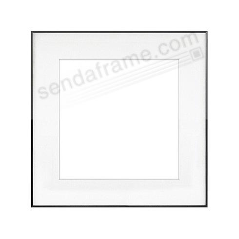 FINELINE Black Aluminum 11x11/8x8 Matted by Framatic®