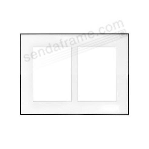 FINELINE Black Aluminum 9½x12¾/5x7(2) Matted by Framatic®