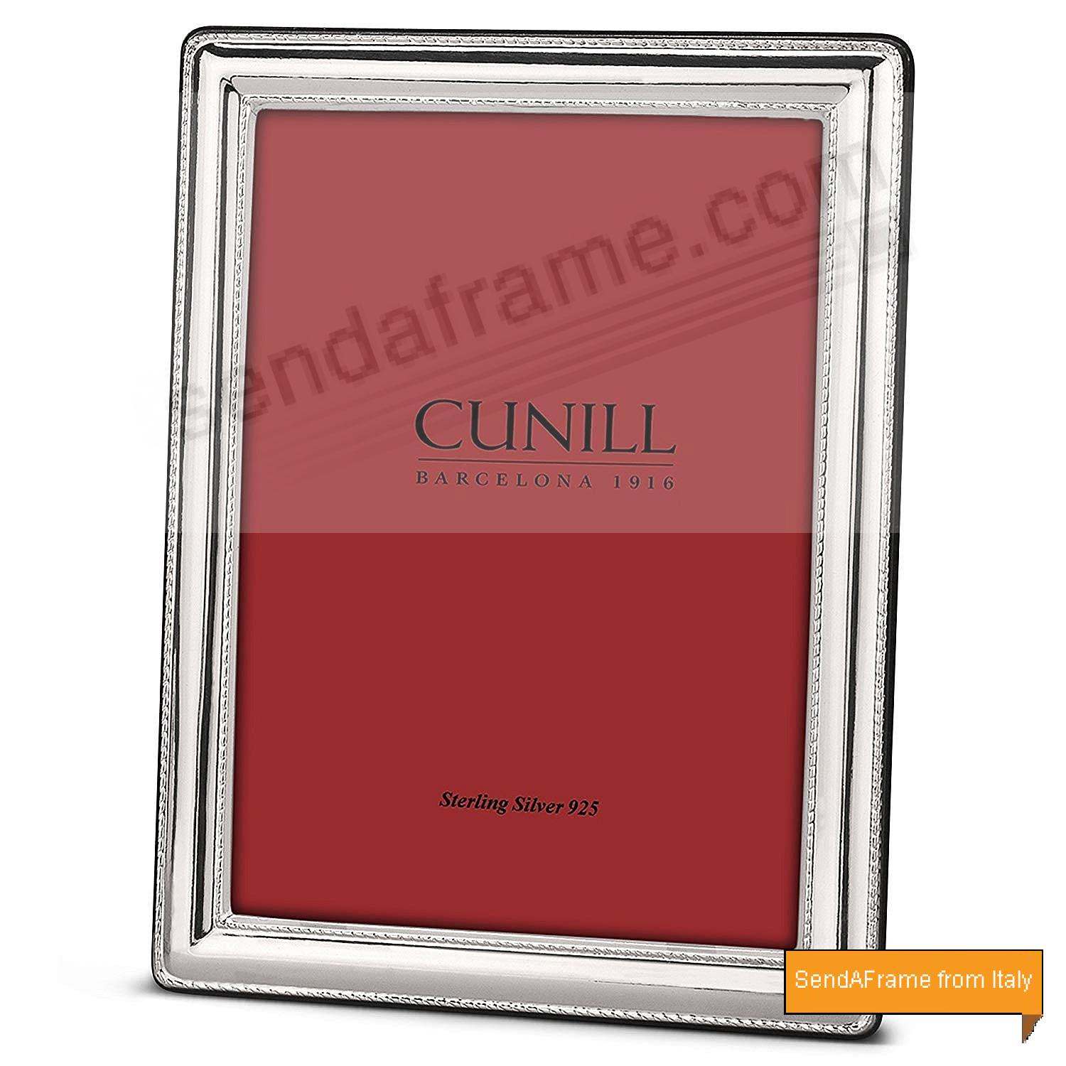 FINESSE Fine Sterling Silver 4x6 Frame by Cunill® Italy