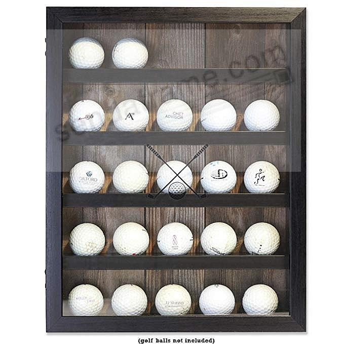 GOLF BALL ShadowBox Collectors frame by Lawrence®