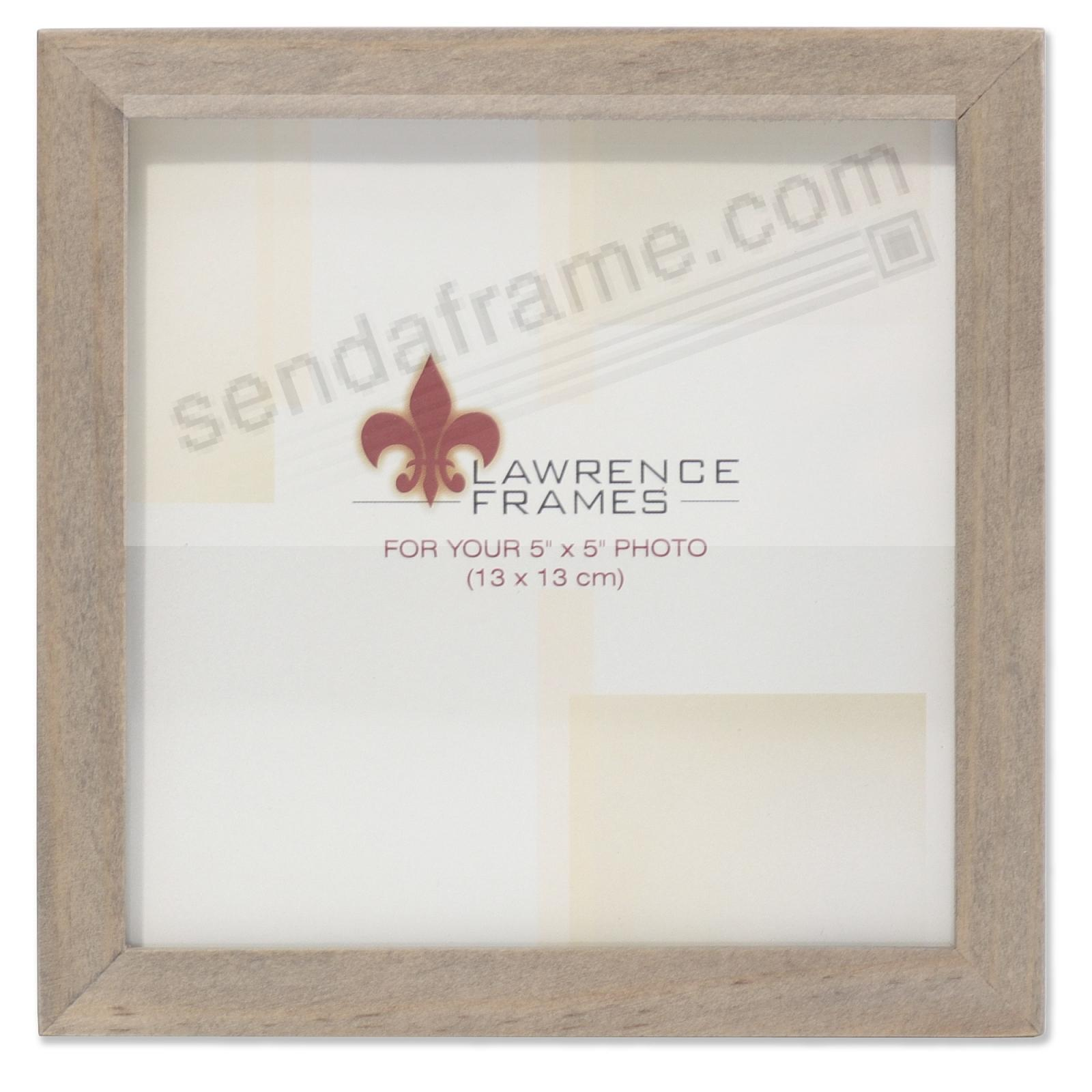 SQUARE CORNER Gray Stain 5x5 frame by Lawrence Frames®