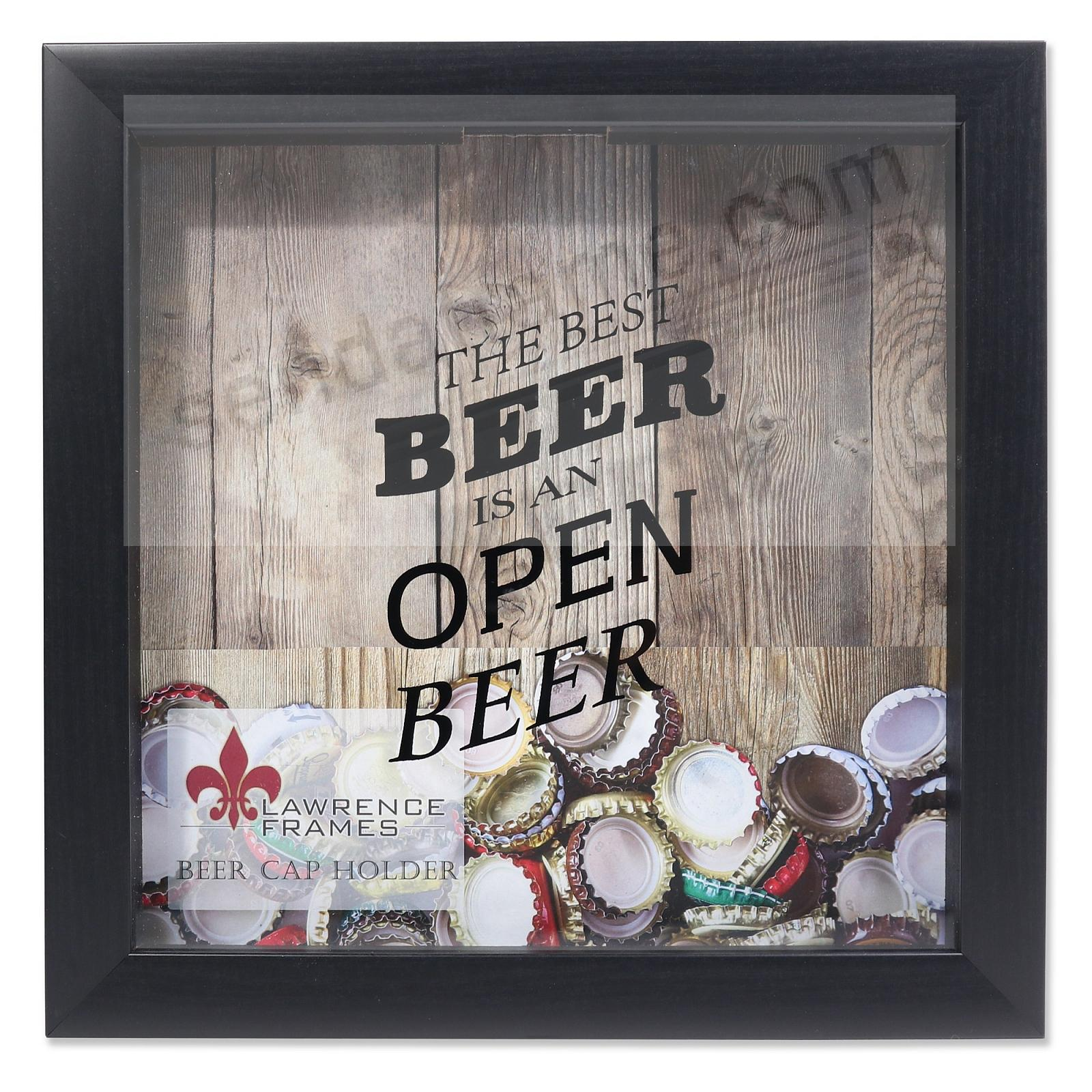 BEER CAP KEEPER Black ShadowBox 10x10 frame by Lawrence®