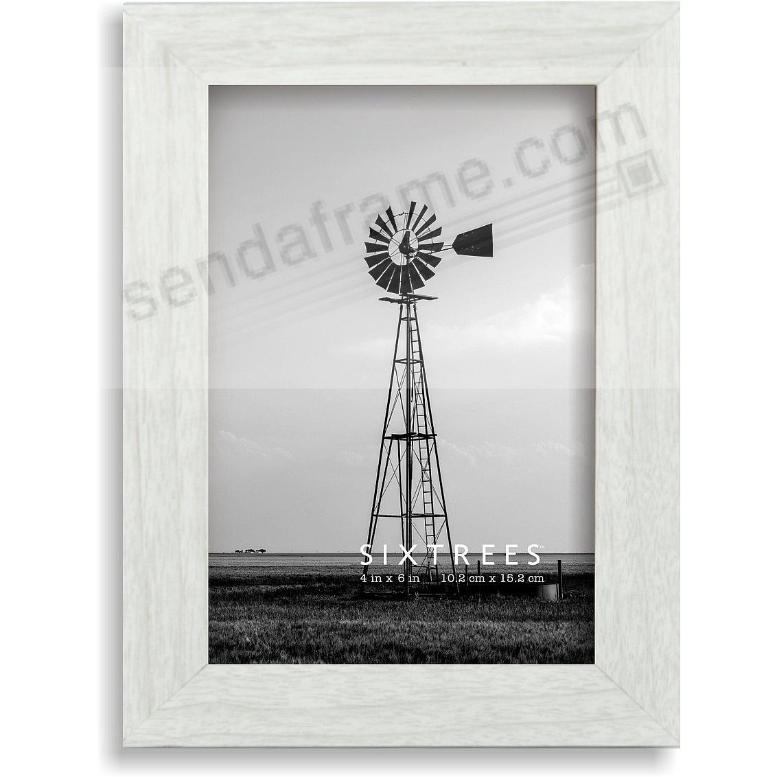Weathered White/Grey LAWRENCE 4x6 Frame by Sixtrees®