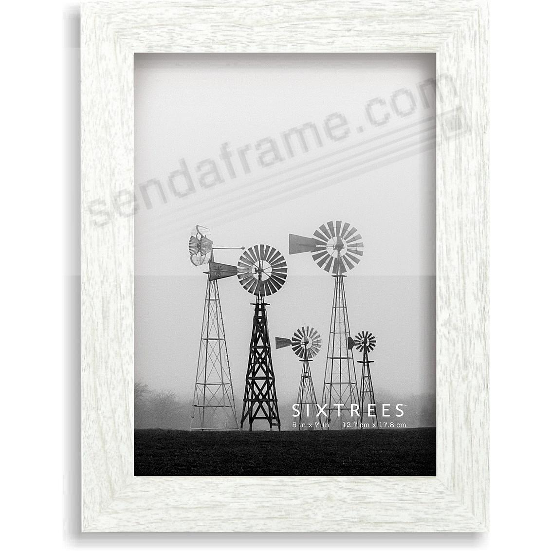 Weathered White/Grey LAWRENCE 5x7 Frame by Sixtrees®