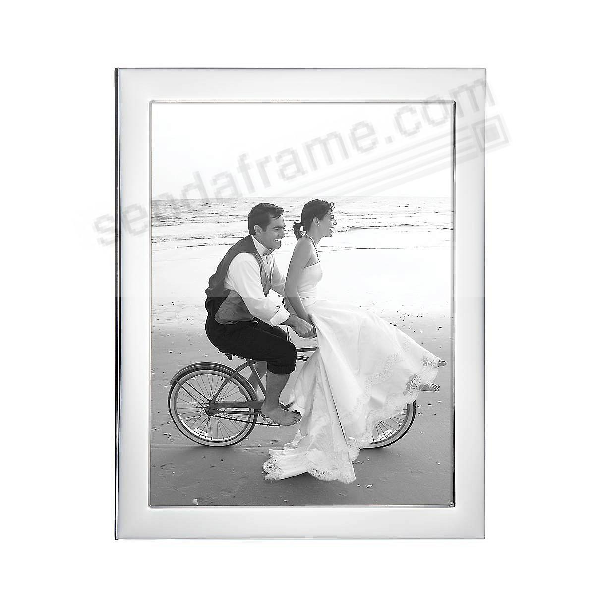 Reed & Barton® Narrow Border Silver 8x10 frame - Engraveable