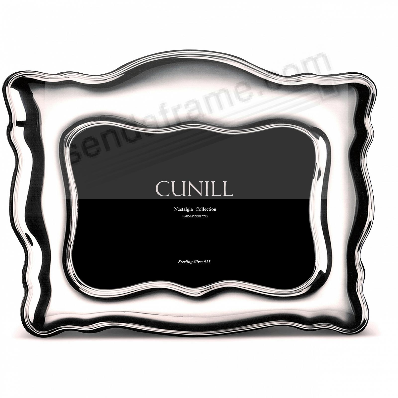 NAPLES PLAIN Sterling Silver Luxe 5x7 frame<br>by Cunill®