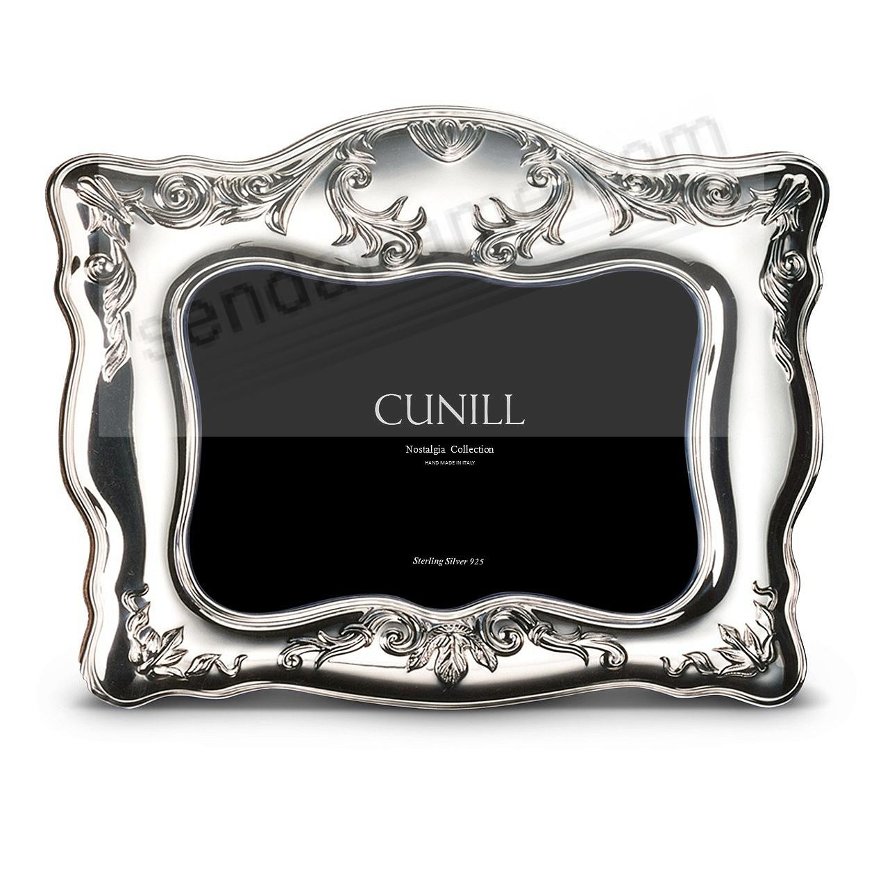 NAPLES Sterling Silver Luxe 5x7 frame<br>by Cunill&reg;