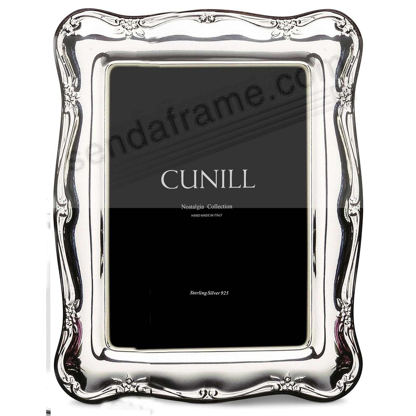 ATHENA FLORAL Nostalgia Group Sterling Silver 5x7 frame<br>by Cunill&reg;