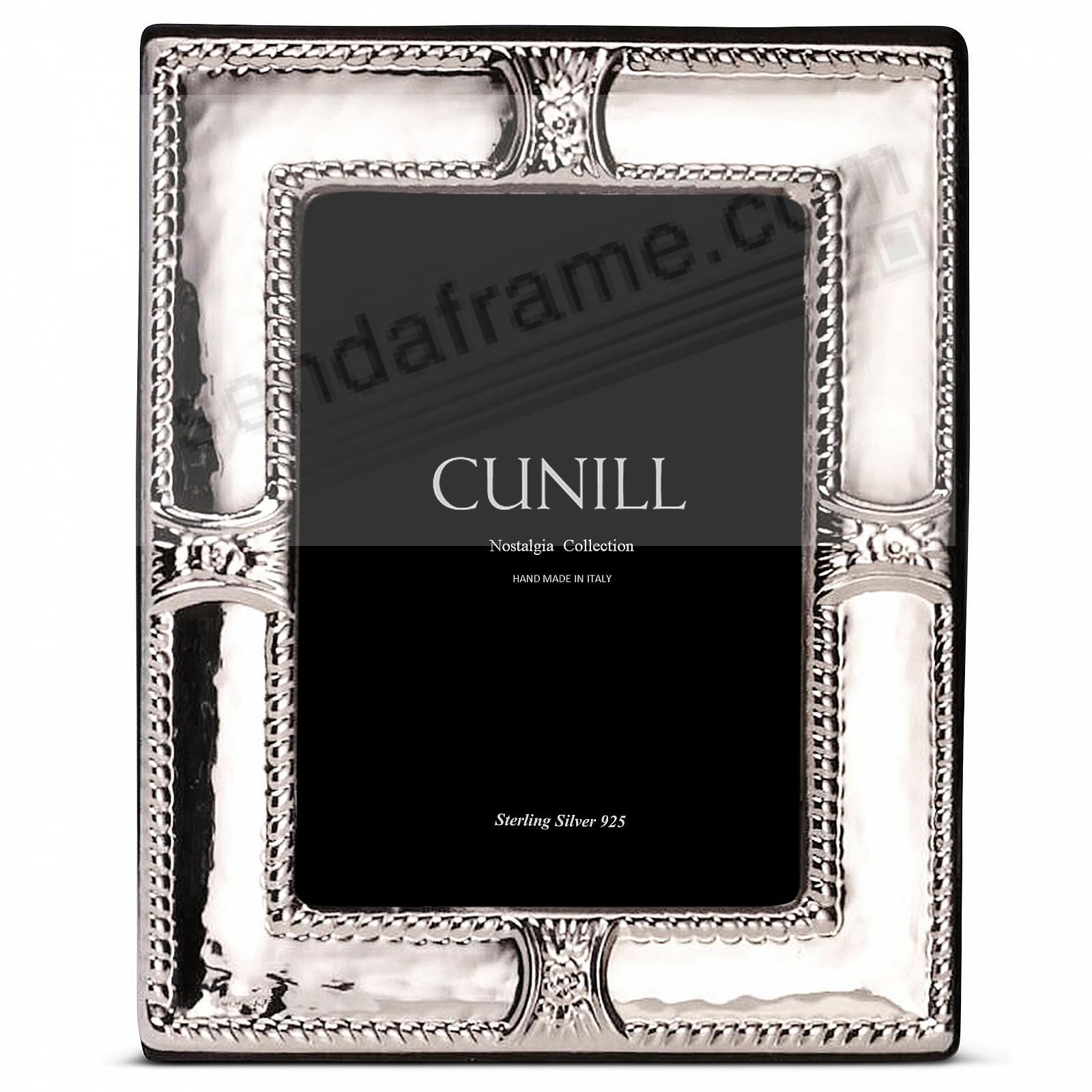AUGUSTA Sterling Silver Luxe 5x7 frame<br>by Cunill®